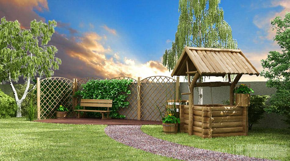 Дизайн частного двора в деревне