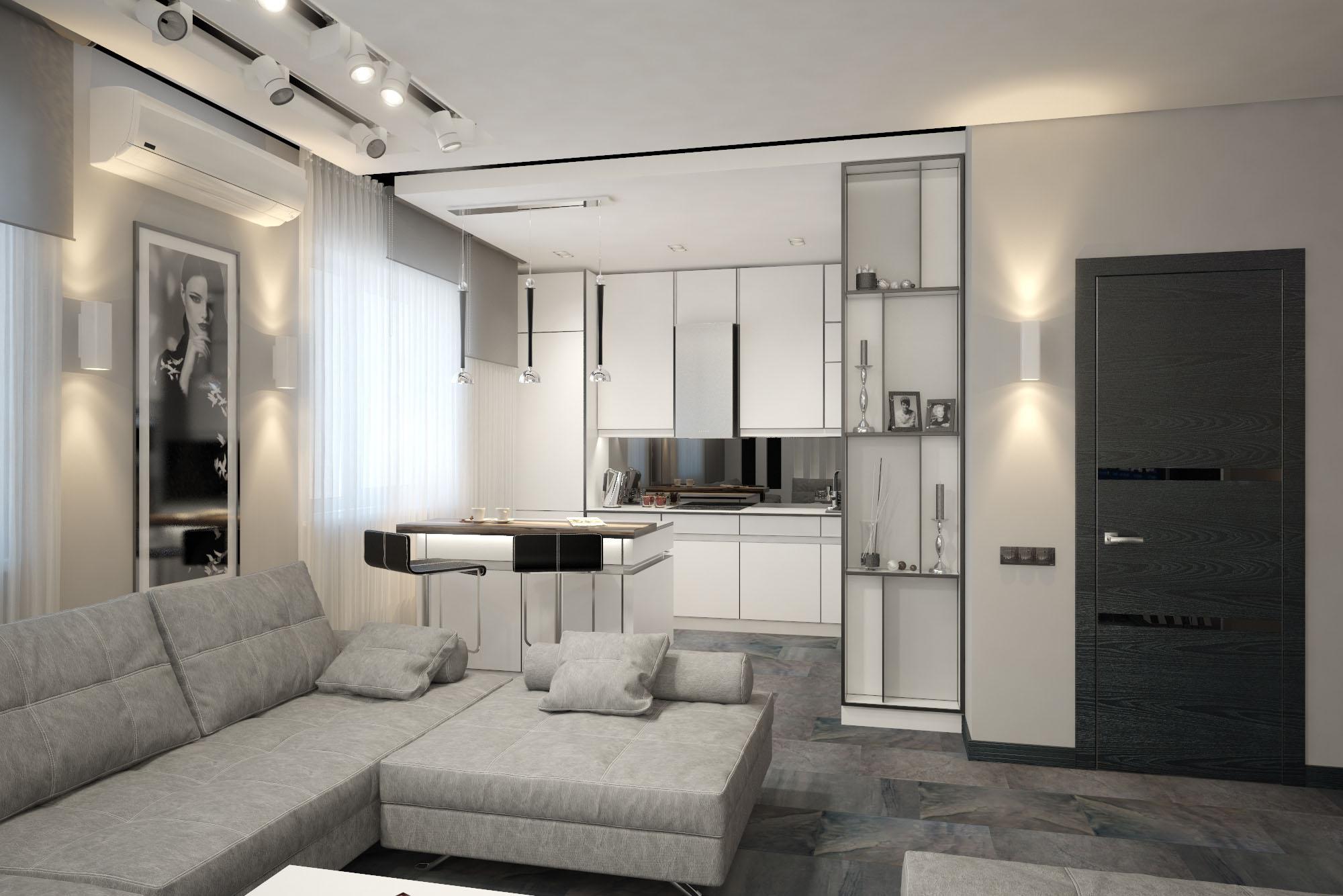 Интерьер квартиры с торшером